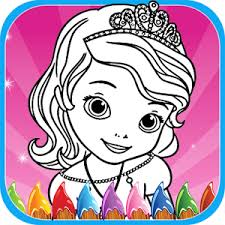 princess girls frozen sofia coloring book kids android apps