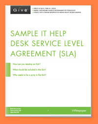 Help Desk Service Level Agreement 6 Service Level Agreement Template For It Support Purchase