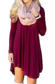women u0027s long sleeve casual loose t shirt dress midi tunics for