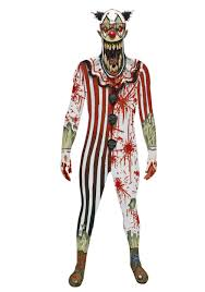 scary clown costumes scary clown jaw dropper morphsuit
