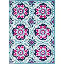 Navy And White Outdoor Rug Medallion Blue Outdoor Rugs Rugs The Home Depot