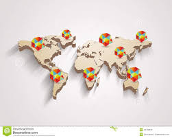 Vector World Map 3d Vector World Map With Info Graphics Stock Vector Image 44759876