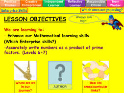 prime factor trees levels 6 7 lesson by mistrym03 teaching