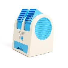 Desk Top Air Conditioner Sino Mini Small Fan Cooling Portable Desktop Dual Bladeless Air
