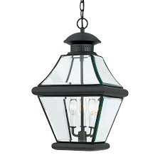 Large Outdoor Pendant Lights Shop Quoizel Rutledge 19 In Mystic Black Outdoor Pendant Light At