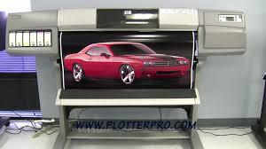 hp design hp designjet 5000 42 wide large format printer plotter