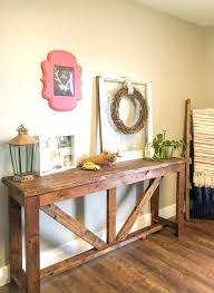 Farmhouse Console Table Diy Console Table Out Of 2x4s A Turtle S For Me