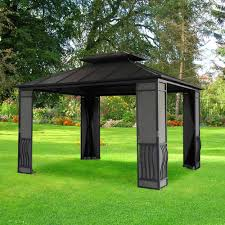 15 X 15 Metal Gazebo by Exterior Botanic Garden With Hardtop Gazebo