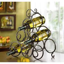 contemporary countertop wine racks countertop wine rack for