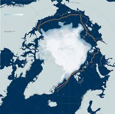 Map Of Russia And Alaska by See For Yourself How Arctic Ice Is Disappearing National