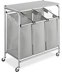Laundry Sorter With Folding Table Seville Classics 3 Bag Folding Laundry Sorter Home