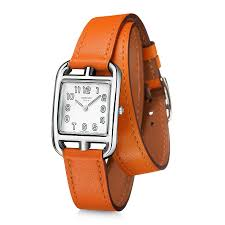 cape cod silver dial orange leather ladies watch 025690ww00