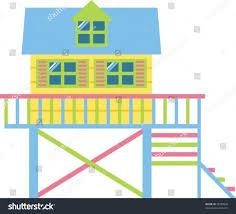 summer beach house stock vector 75589858 shutterstock