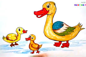 painting animals for kids how to draw a duck how to paint a