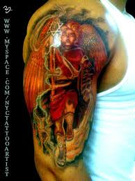 color ink angel tattoo design real photo pictures images and