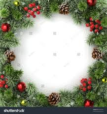 border frame christmas tree branches stock illustration 85455337