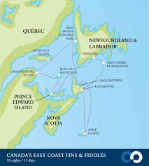 map canada east coast canada s east coast fins and fiddles the great canadian travel co