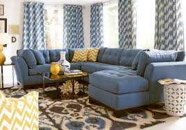 Rooms To Go Living Room Set Cindy Crawford Home Metropolis Indigo 3 Pc Sectional Sectionals