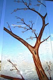 cherry blossom ii in color glass door inserts sans soucie