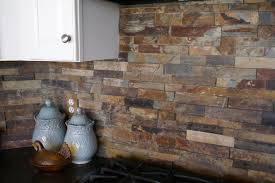 stacked slate backsplash tile google search houses pinterest