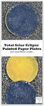 total solar eclipse painted paper plates sun and moon crafts