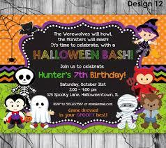 halloween potluck invitation