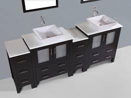 Bathroom Vessel Sink Vanity by Contemporary 84 Inch Espresso Square Vessel Sink Bathroom Vanity