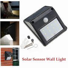 12 led solar powered pir motion sensor light outdoor garden