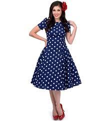14092314 1950s pinup vintage rockabilly navy u0026 white polka dot m