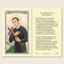 gerffert st gerard thanksgiving novena for a safe delivery holy