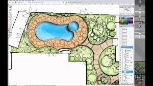 one minute villa garden design wacom cintiq 24dh youtube