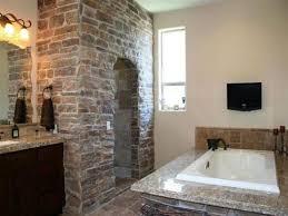 Black Stone Backsplash by Natural Stone Bathroom Tile Cool Showers Head Mix Wooden Vanity