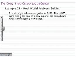 writing and solving two step equations algebra 1 math help youtube