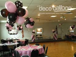 pink and brown baby shower balloon centerpieces my deco balloon