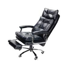 co z high backrest reclining office chair with footrest u0026 thick