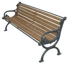 panchine da giardino in ghisa panchina tedesca legno esotico per parco e giardino 4017