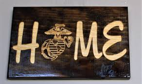 home sign carved wood sign engraved sign military home decor