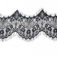 black lace trim 3 yard 10cm wide delicate antique eyelash high quality lace trim