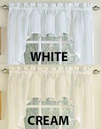 Lorraine Curtains Kitchen Tier Curtains Gridwork Kitchen Curtains By Lorraine