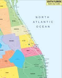 Map Of Cocoa Beach Florida by Amazon Com South Florida Zip Codes Map Laminated 36