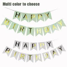 Green White And Yellow Flag 1set 250cm Pink Green White Blue Happy Birthday Flag Banner For