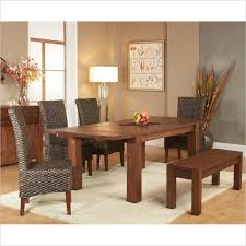 modus meadow 7 piece solid wood extending dining room set w bench