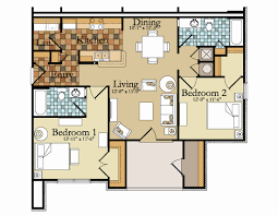 cool floor plans cool modern 2 bedroom apartment floor plans design gallery 10995