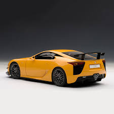 lexus lfa in the usa lexus lfa nurburgring package orange autoart touch of modern