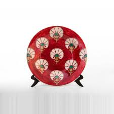 plate with stylized carnation flower pattern collections