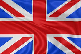 Englang Flag Linksverkehr England Willkommen In Großbritannien