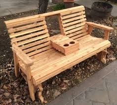 Glider Patio Furniture Glider Bench Glider Rustic Wood Glider Wood Glider Outdoor