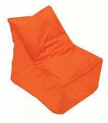 bondi beach bean bag chair in orange foam u0026 rubber products