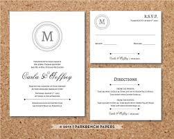 wedding invitation inserts editable wedding invitation rsvp card and insert card classic