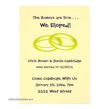 wedding reception invitations awesome wedding reception invitation after eloping for magnificent